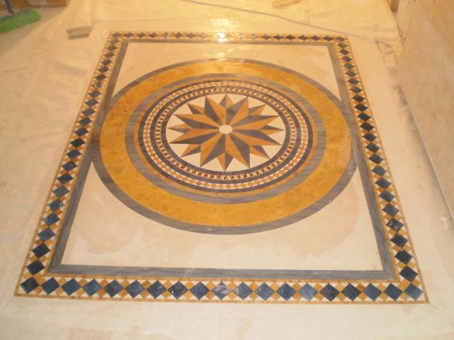 Immagine mosaico in marmo